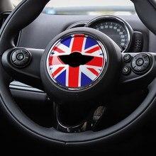 Volante do carro adesivos decalques decoração interior para mini cooper um s jcw r52 r55 r56 r60 r61 f54 f55 f56 f60 acessórios