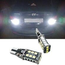 2 шт. W16W светодиодный светильник Canbus T15 для Hyundai Solaris Santa fe IX35 I20 Getz Sonata I40 I10 IX25 Coupe Verna
