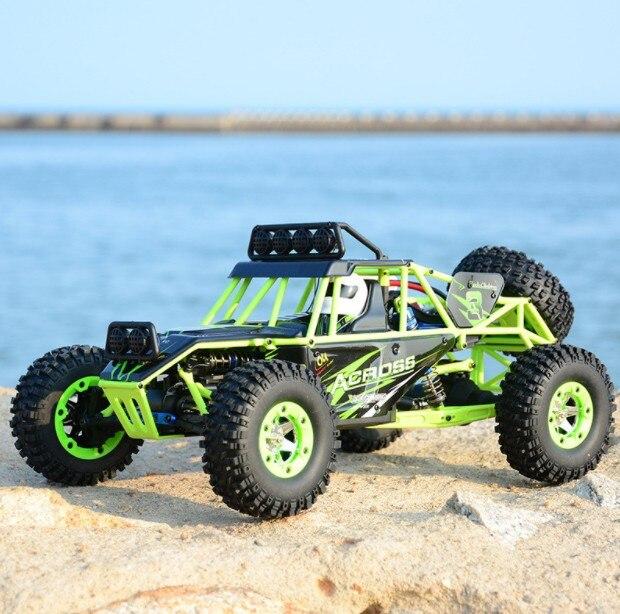 Радиоуправляемая машина WLtoys 12428, 4WD 1/12, 2,4G, 50 км/ч, высокая скорость, монстр грузовик, Радиоуправление, RC багги, внедорожный RTR, обновленная вер