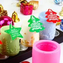 Christmas Elk Cedar Silicone Mold DIY Non-stick Soap Candle Clay Mould Handmade Tool Craft trendy non stick diy ornament