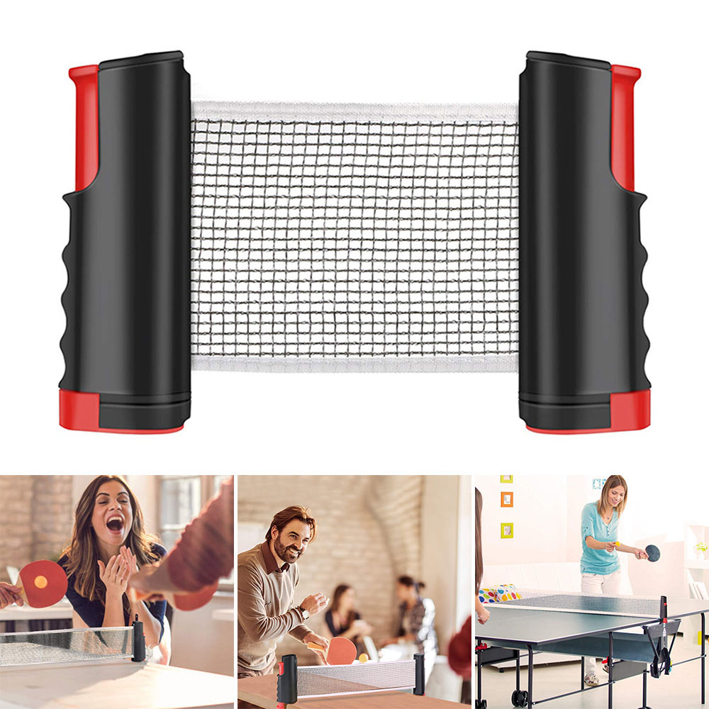 Table Tennis Net Retractable And Adjustable Ping Pong Table Net Rack Portable Table Tennis Table Net Rack Accessories