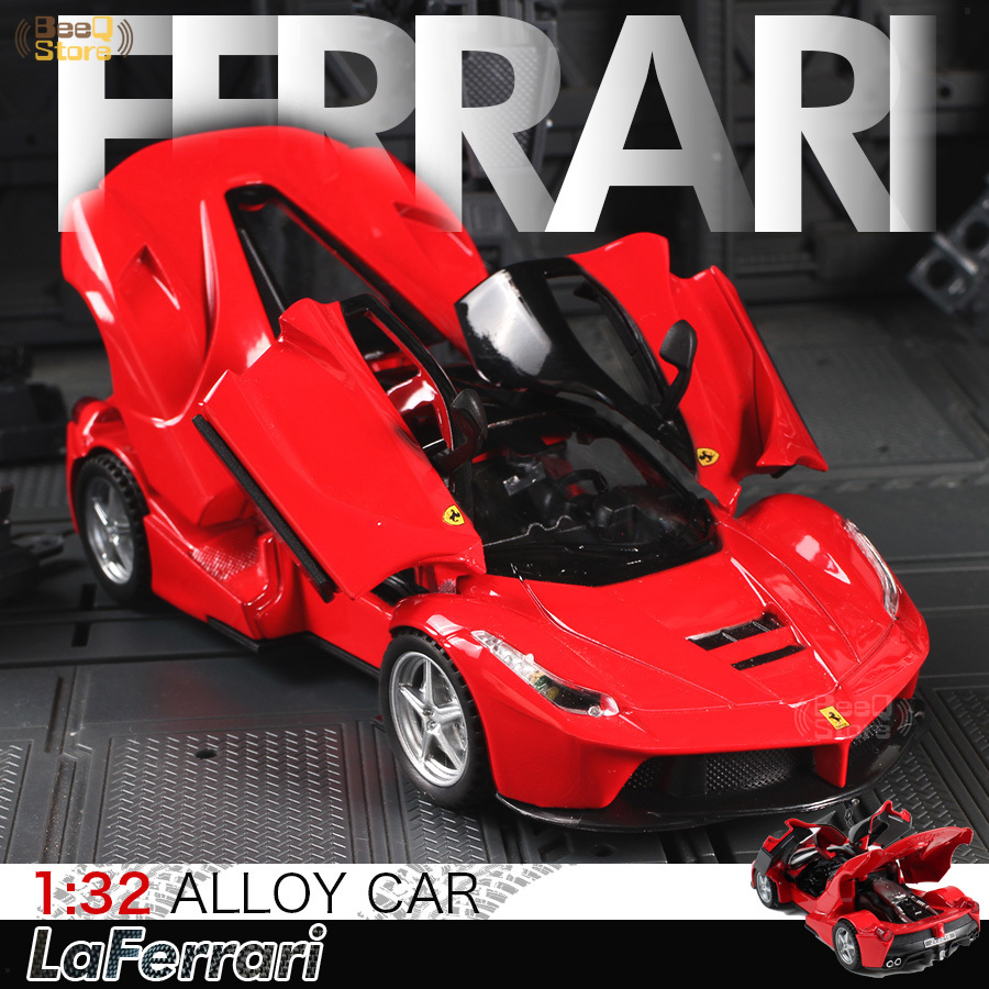 Scale 1:32 Alloy Car Model Diecast Sound Laferrari Light Pull Back Door Toy For Children Hot Toy Car Hot Birthday Christmas Gift