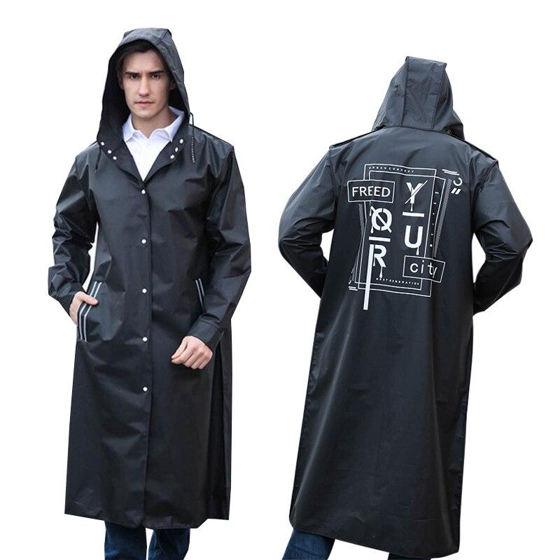 Fashion EVA Women Man Raincoat Thickened Waterproof Rain Poncho Coat Adult impermeable mujer para lluvia Hoodie chubasquero Suit|  - title=