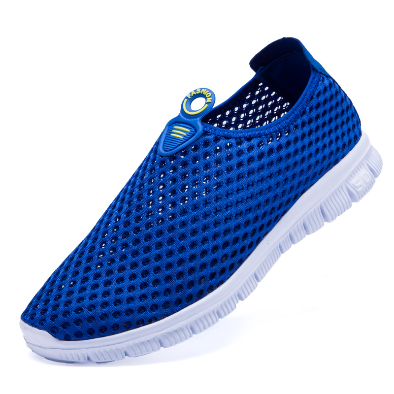 Summer Men Shoes Breathable Mesh Athletics Sports Shoes Light Weight Comfort Walking Shoes Outdoor Sneakers Men