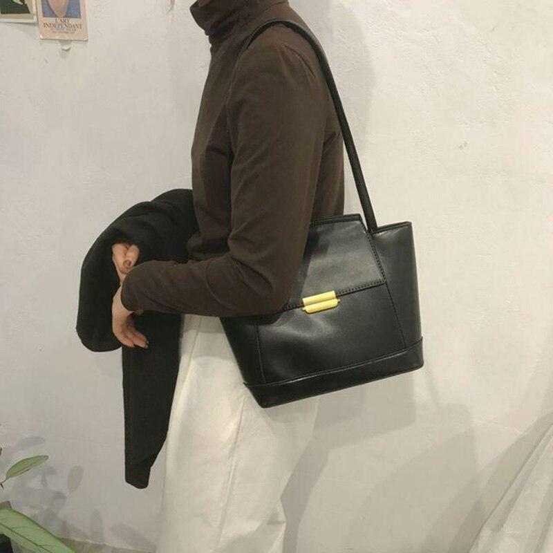 Bolsas de Moda do Vintage Bolsa de Ombro Locimole Grande Capacidade Feminina Bolsa Estilo Coreano Simples Selvagem Axilas Biz041 Pm49