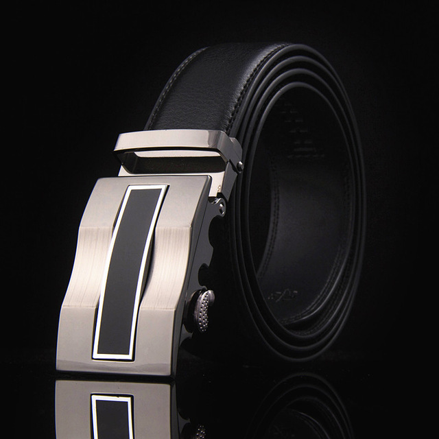new belt decorative alloy automatic buckle belt male genuine leather men's simple belt fashion designer business 2