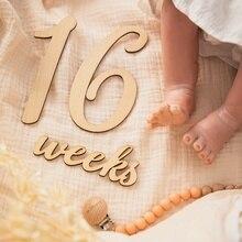 19 шт./лот Детские вехи карты деревянная фотография вехи Мемориал ежемесячный новорожденный памятник новорожденный фото аксессуары