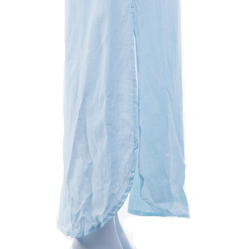 Women Gypsy Dresses Robe Long Sleeve V-neck Ethnic Boho Cotton Linen Summer Beach Maxi Dress 10