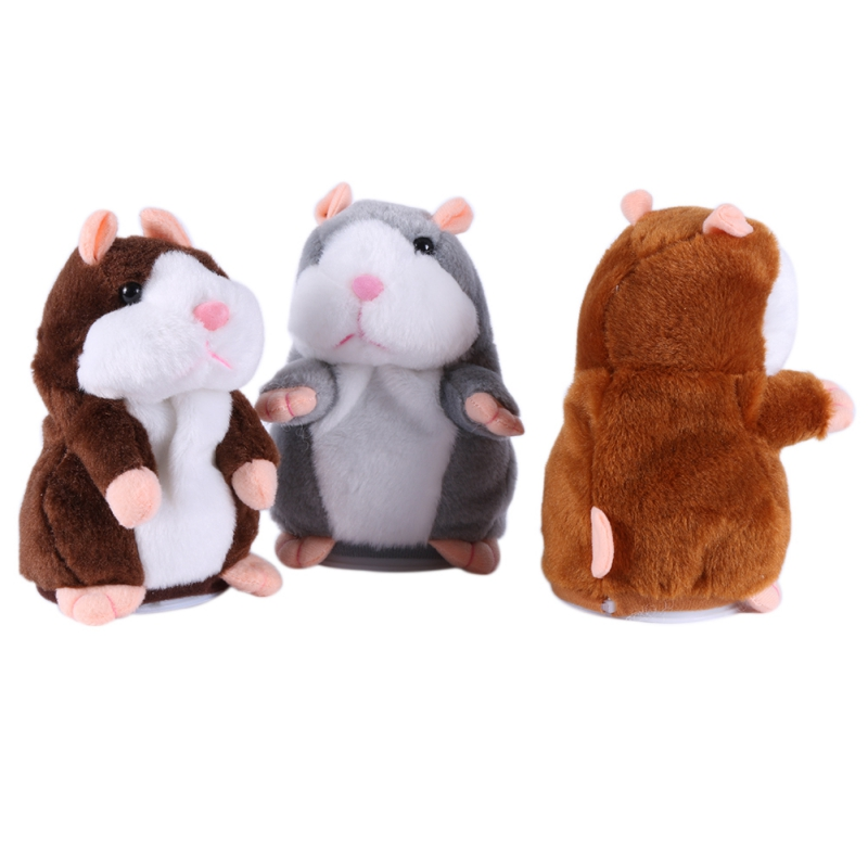 Promotion 15cm Talking Hamster Speak Talk Sound Record Repeat Stuffed Plush Animal Kawaii Hamster Toy For Children Kid Xmas Gift