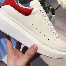 Купить с кэшбэком 2019 New white shoes men and women leather increase thick bottom couple shoes34-45