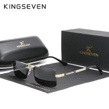 New Arrived KINGSEVEN Polarized Sunglasses Stainless Steel Vintage Frame Brand Rectangle Design Driving Fishing Sun glasses N760
