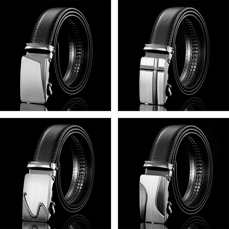 Mens Business Style Belt Leather Strap Male Belt Automatic Buckle Belts For Men Top Quality Girdle Belts For Jeans