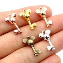 20pcs Charms Mouse Tibetan-Findings Gold Pendant Jewelry-Making Bronze Silver-Plated