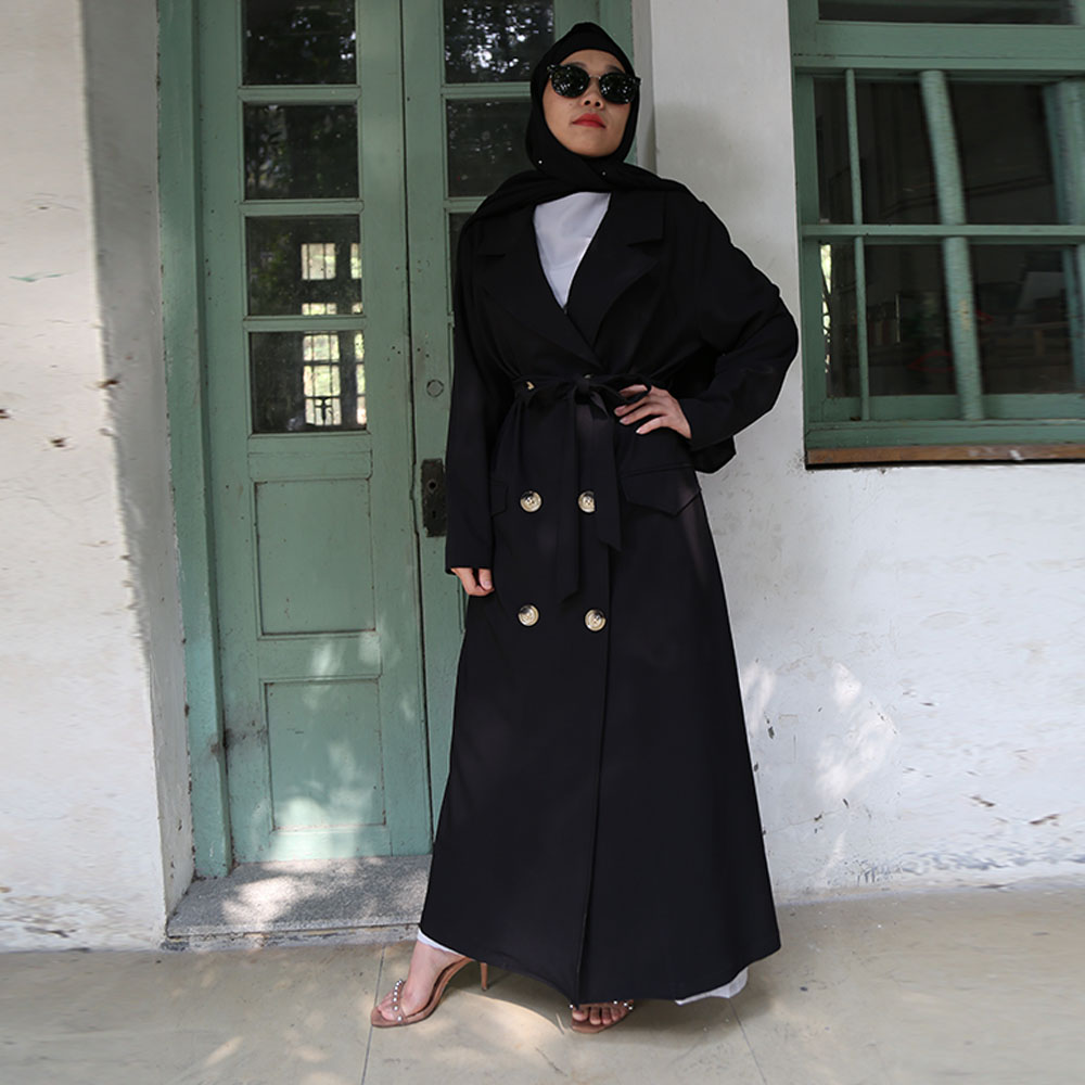 Plus Size Abaya Kimono Cardigan Turkish Hijab Muslim Dress Long Coat Islam Saudi Abayas For Women Fashion Clothing Djelaba Femme