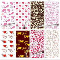 100 sheets Valentine 's Day DIY Chocolate Transfer Paper / Mold Decoration / Food Baking