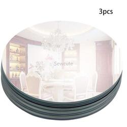 Bandeja de vidro redonda do espelho de 200mm para decorações do casamento placa da bandeja da vela da decoração para o chuveiro do bebê partes centrais 2mm espessura