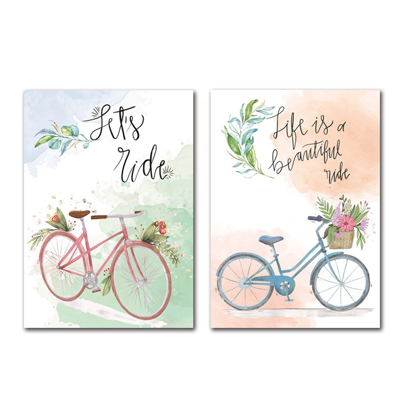 Letters-and-Bicycle-Home-Decoration-Canvas-Painting-Bedroom-Living-Room-Posters-Hd-Printing-Pictures-with-Waterproof (4)