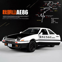 1/32 Car Models Initial D TRUENO AE86 Metal Diecasts Toy Vehicles Collection Mockup Car Souvenir Gift for Boys Man Adults Kids(China)