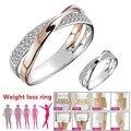 Нержавеющаясталь магнитные кольца Магнитный Вес потери кольцо для похудения инструменты Фитнес уменьшить Вес кольцо здоровья