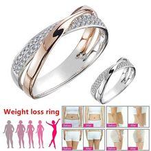 Anillo magnético de acero inoxidable para pérdida de peso, herramientas adelgazantes para Fitness, reducción de peso, anillo de la salud