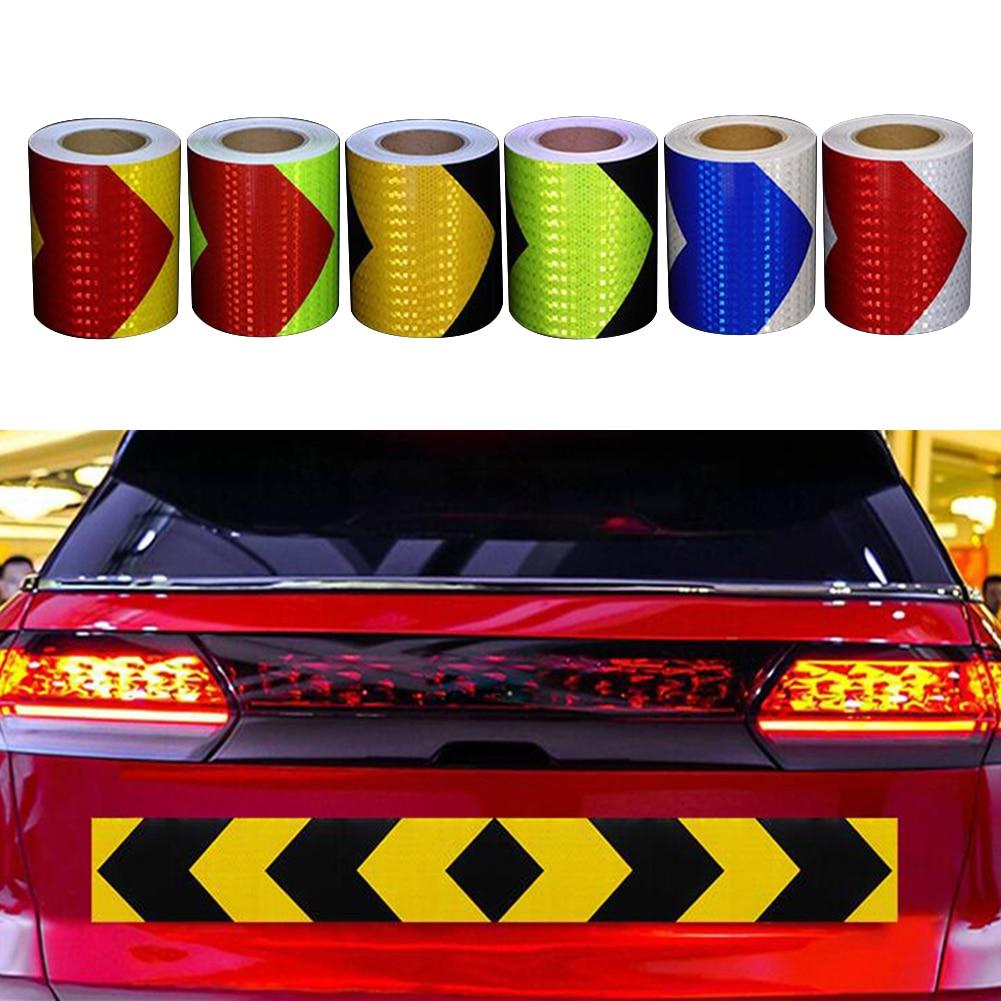 5cm*300cmArrow Reflective Tape Decoration Sticker Car Warning Safety Reflection Tape Film Auto Reflector Sticker Car Accessories