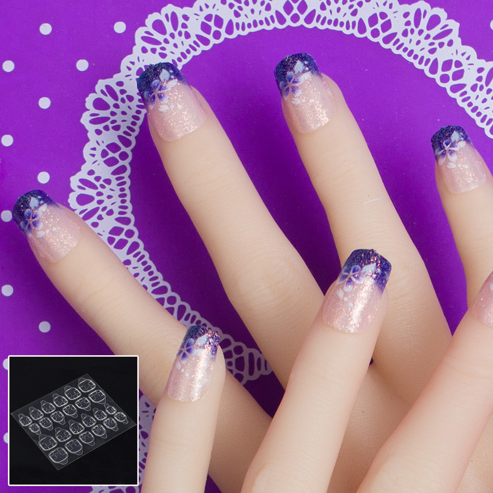 Jq 24 Pçs Set Novo Falso Ongles Capa Completa Unhas Falsas Design De Arte Artificial Unhas Falsas Livre Com Prego Adesivo Cola Fita Full Cover False Nails Fake Nailsfake Nails Design Aliexpress