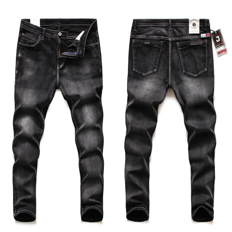 2020 Stretch Jeans Business Jeans  Fashion Casual Section Pants Slim Trousers Brands Clothing Black BluePlus Size 40 42 44 46