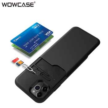 Armor Case for iPhone 11 Wallet Credit Card Holder Hybrid Business Matte Phone Cover for iPhone 11 Pro Max X Xr Xs Max Case 2019