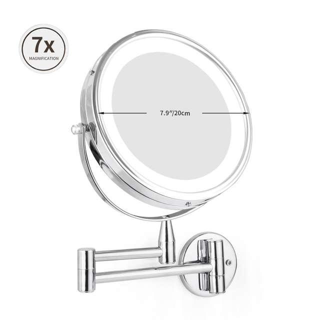 Wall Mounted Adjustable Makeup Magnifying LED Makeup Mirror