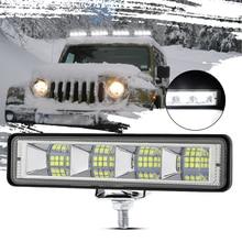 Светодиодный прожектор 72 Вт, светодиодный рабочий светильник, белый светильник для вождения, портативный модифицированный светильник, ава...