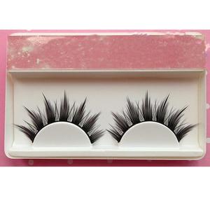 Image 2 - Натуральные Длинные Накладные ресницы для косплея, накладные ресницы с перекрещенными полосками для макияжа, черные ресницы для глаз, для косплея