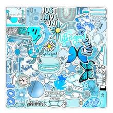 30/50Pcs Blue Pattern Sticker Cute Girl Decals For Skateboard Laptop Luggage Waterproof Car Sticker Toy ZH