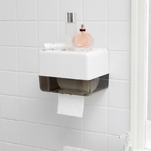 A01-Wall-Mounted Bathroom Tissue Dispenser Tissue Box Holder for Roll Paper Towels Mobile Phone Rack xueqin gold bathroom hotel paper holder retro copper wall mounted roll tissue storage shelf towels phone book holders