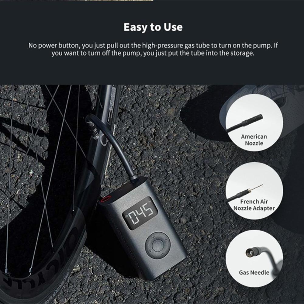 Xiaomi MIJIA Portable Mini Electric Bicycle Pump High-Precision USB Charging