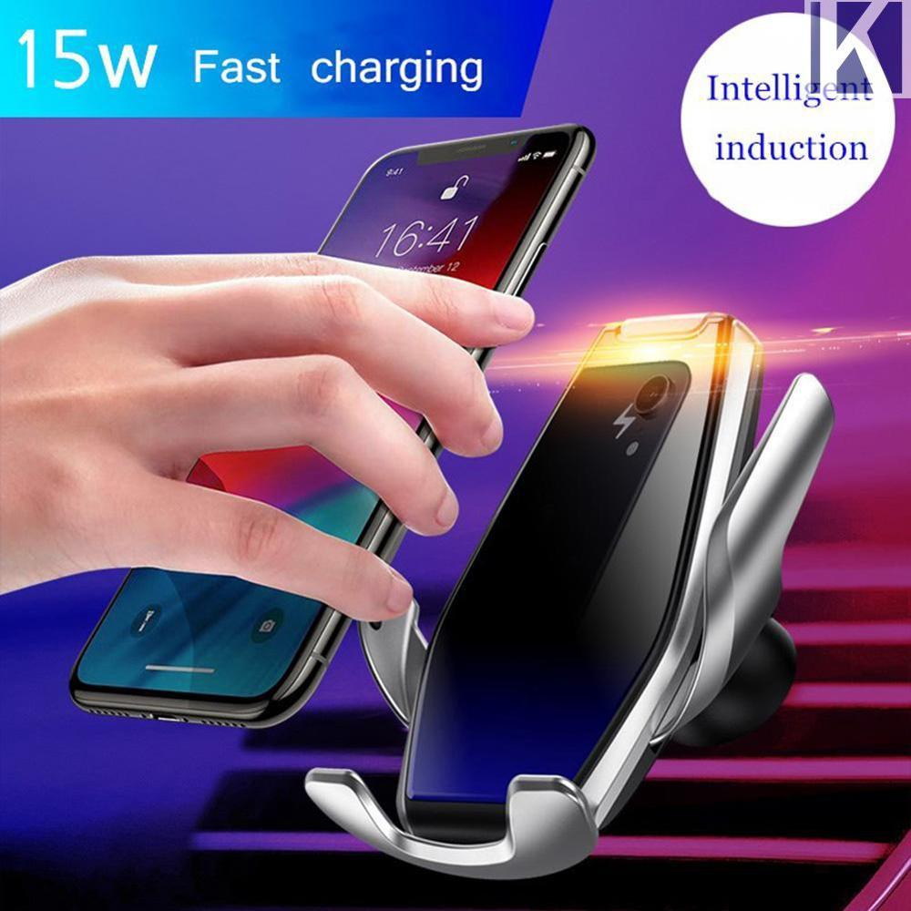 2020 New Arrival S7 15W Automatic Induction Clamping Smart Sensor Car Wireless Charger Stand By QC Qi 10W Fast Charging Holder