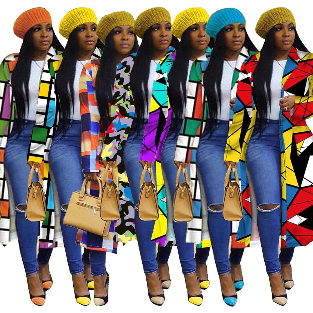 African Women Long Sleeve Printing Plus 5