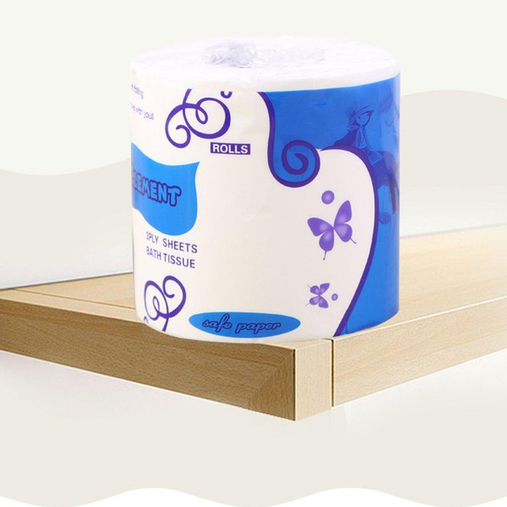 1 Roll Standard 3-ply Toilet Paper Bulk Rolls Bath Tissue Household Bathroom Soft Paper Towel