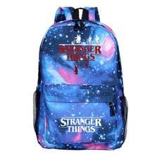 Tassen Fashion Anime Mochila stranger things Backpack Men 4 Girls Laptop back to school bag Travel