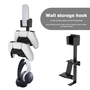 Image 4 - Wall Mount Storage Shelf Stand for PS5 for PS4 for Xbox Game Controller Universal Gamepad Headset Storage Rack Organizer