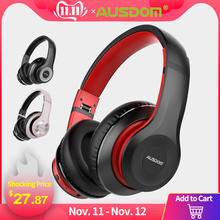 Ausdom Wireless Headphones Bluetooth-Headset Active Noise Play-Time Hifi Cancelling Foldable
