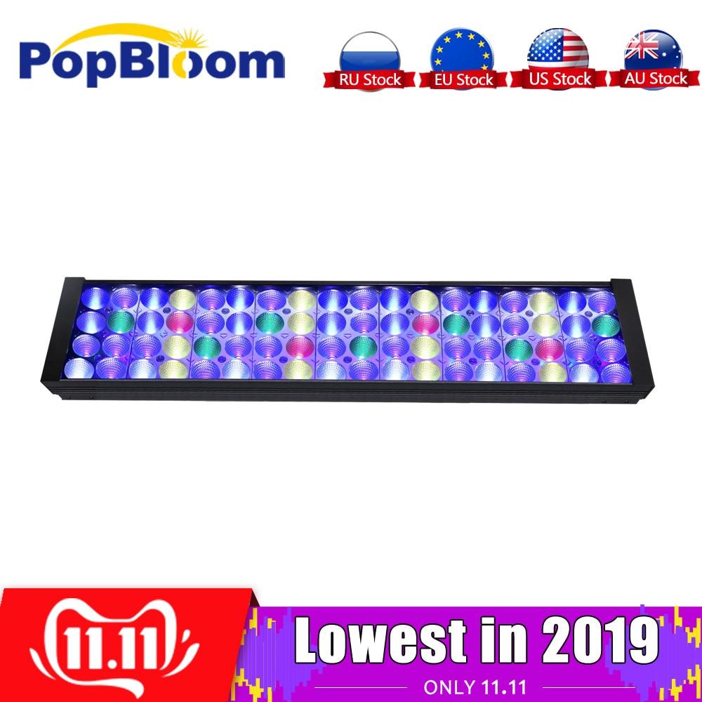 """PopBloom LED light aquarium lamp Coral Reef Marine fish tank led lighting for 2ft /24""""/60cm Tank sunrise sunset MJ4BP1"""
