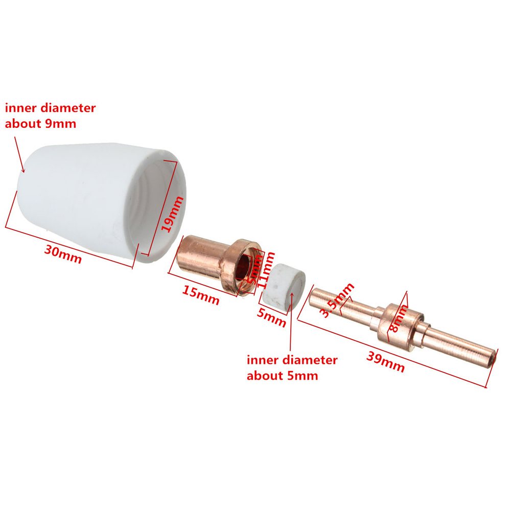 40Pcs Air Plasma Cutter Verbrauchs Verlängern Fit für PT-31 LG-40 Fackel CUT-40 50