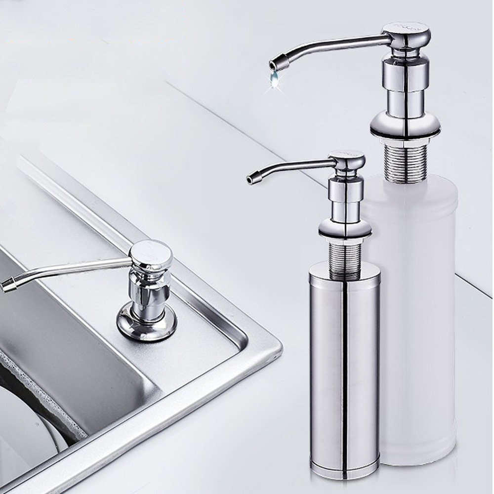 Kitchen Sink Soap Dispenser ABS Plastic Built In Lotion Pump Plastic Bottle For Bathroom And Kitchen Liquid Soap Organize