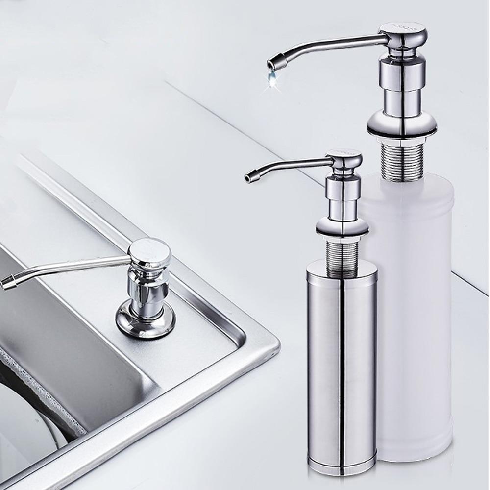 Kitchen Sink Soap Dispenser ABS Plastic Built In Lotion Pump Plastic Bottle For Bathroom And Kitchen Liquid Soap Organize