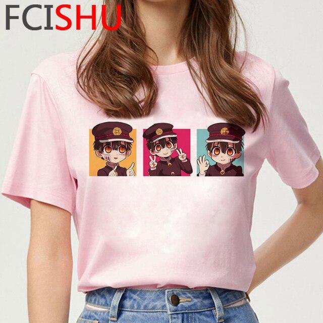 Kawaii Anime Japonais Toilette Lié Hanako Kun T-shirt Femmes Inuyasha Tshirt T-shirt Graphique Drôle Dessin Animé T-shirt Top T-Shirts Femme
