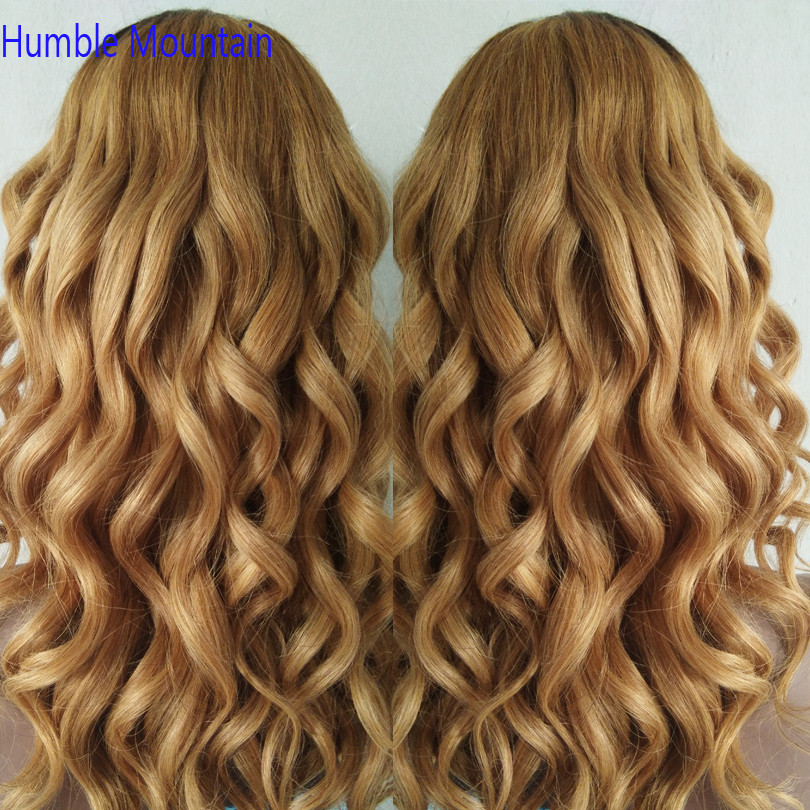 180% Density Ombre Colored 1B 27 U Part Wigs Brazilian Remy Hair Body Wave Human Hair Wigs Glueless Middle U Shaped Wigs