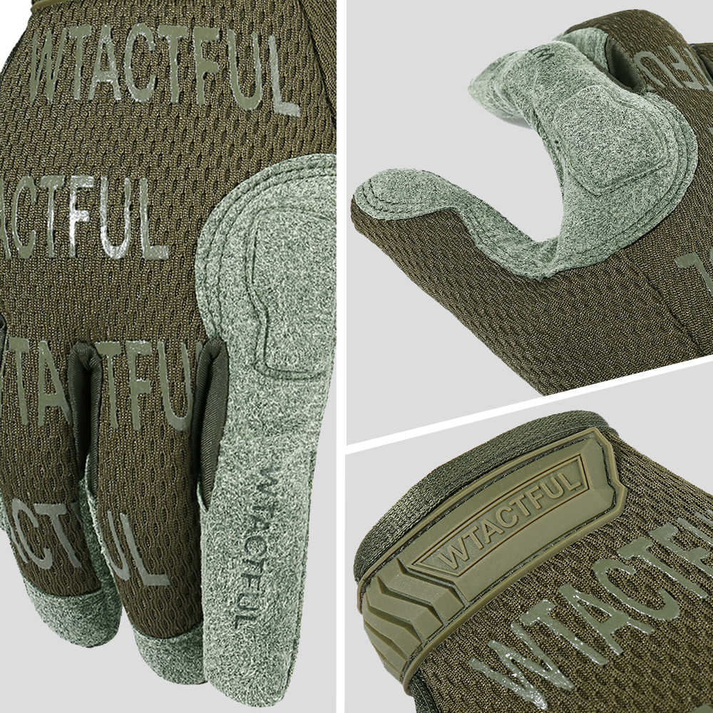 Mens Knitted Olive Green Shooter Mitts