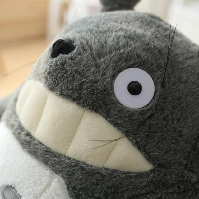 Totoro Plush Toy Cute Plush Cat Japanese Anime Figure Doll Plush Totoro With Lotus Leaf Kids Toys Birthday Christmas Gift 6