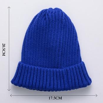 [SMOLDER]New Arrival Skullcap Knitted Hat Women Men Acrylic Beanie Cap Unisex Solid Color Keep Warm Elastic Hats 11 Colors