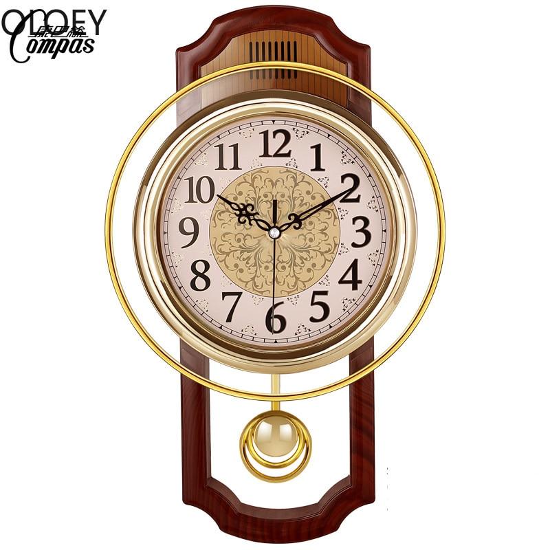 Vintage Swing Clock Wall Clocks Luxury Home Decor Living Room Hanging Tables Wall 3d Clock Home Decormodern Design Wall Clock